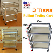 Rolling Trolley Cart 3 Tiers Storage Equipment Organizer Hair Beauty Salon Spa