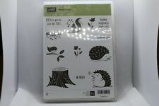 New Retired Hedgehogs Stampin Up Rubber Stamps - 145879