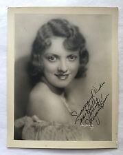 ORIGINAL MARGARET BREEN AUTOGRAPH 8x10 PHOTO 1930s WARDROBE MISTRESS COLLECTION