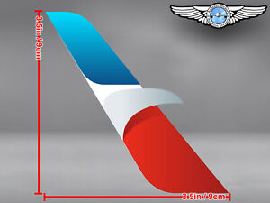 AMERICAN AIRLINES AA CUT TO SHAPE STYLIZED EAGLE LOGO DECAL / STICKER
