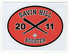 2011 SAVIN HILL BASEBALL BOOSTER Window Decal STICKER Bumper DORCHESTER Boston