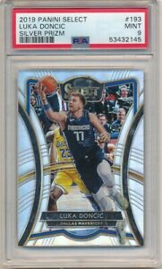 LUKA DONCIC 2019/20 PANINI SELECT 2ND YEAR #193 SILVER PRIZMS SP PSA 9 MINT $200