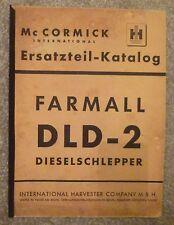 MC Cormick Schlepper DLD 2 Ersatzteilkatalog (1955)
