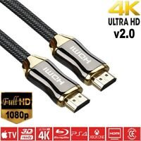 3m HDMI V2.0/1.4a PREMIUM gold Video High Speed 2160p SKY TV HD HDTV Lead 3D 3M