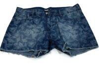 Old Navy The Diva Denim Jean Floral Print Womens Shorts Size 8 Regular - G