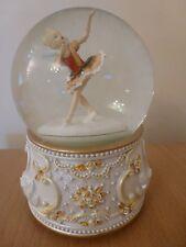 Gisela Graham Ballerina Fairy Resin & Glass Musical Swan Lake Snow Globe 15cm