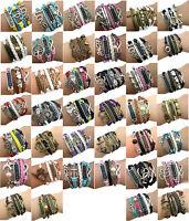 Best friend wrap charm bracelet double heart love infinity doves