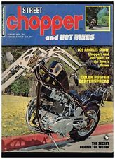 STREET CHOPPER AUGUST 1973 SEE CONTENT AEE 70's STYLE CUSTOM CHOPPERS TECH TIPS