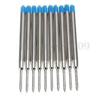 10x Ballpoint Ink Pen Refills for Parker Cross Type Style Blue Medium Nib 0.7mm