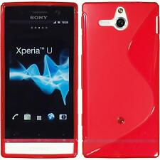 Coque en Silicone Sony Xperia U - S-Style rouge + films de protection