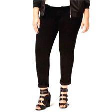 Seven7 Womens Tummy-Less Slimmer Jeans Black Size 20W