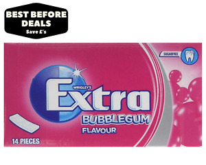 Extra Bubblegum Sugar Free Soft Chewing Gum - Box Of 24 & 48  - BBE 30/01/21