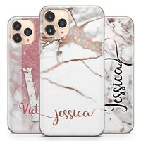 Initials Phone Case Personalised Marble Gel Cover For Apple iphone 11 Pro Max