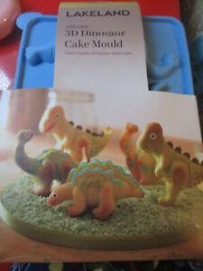 Lakeland Silicone 3D Dinosaur Cake Mould 6 Shaped Cakes