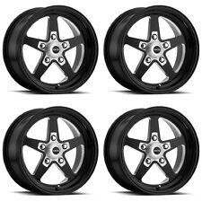 """Set 4 15"""" Vision 571 Sport Star II Gloss Black Rims 15x7 5x4.75 0mm Chevy 5 Lug"""