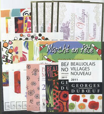 BEAUTIFUL LOT OF 34 FRENCH WINE LABELS - BEAUJOLAIS NOUVEAU 2011 - FREE SHIPPING