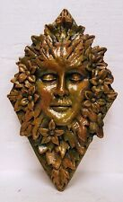 Exclusive Mythical Green Man Woman Leafy Face Wall Plaque Home Decor