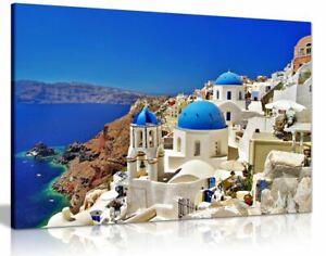 Santorini Greek Islands Canvas Wall Art Picture Print