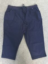 Ladies Size 20 Navy Autograph Cropped Drill Pants