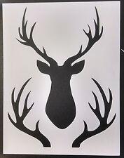 "Hunting Buck Head Rack Deer 8.5"" x 11"" Custom Stencil FAST FREE SHIPPING"