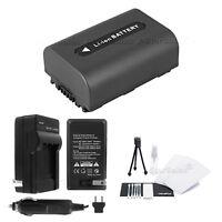 NP-FH40 Battery + Charger + BONUS for Sony DSC-HX1 HX100 HX100V HX200 HX200V
