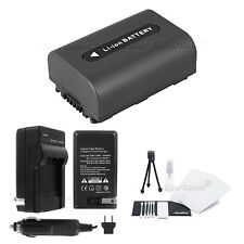 NP-FH40 Battery + Charger + BONUS for Sony DSC-HX1 HX100 HX100V HX200 HX200V