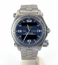 Breitling Titanium Emergency Chronometer E76321 121.5MHz Beacon Pro II Bracelet