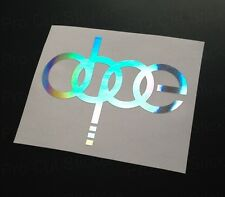 100mm DOPE Silver Hologram Holographic Chrome Audi Car Bumper Stickers Decals