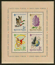 HUNGARY : 1964 Stamp Day ( Flowers) miniature sheet SGMS 2020a unmounted mint