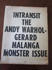INTRANSIT Andy Warhol Gerard Malanga Velvet Underground Charles Bukowski