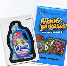 WACKY PACKAGES~2011 ANS 8 ~ NEW SERIES 8  MAGNET #10 OF 10 ~ DROWNY