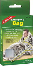 """EMERGENCY BAG-WIND AND WATER PROOF BAG, REFLECTS HEAT TO BODY AND HEAD 36""""X 84"""""""