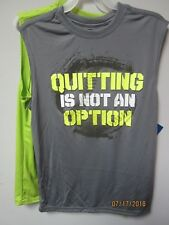 Starter Boys 2/Set Gray & Lime Graphic Sleeveless Muscle Tee Size XL (14/16)
