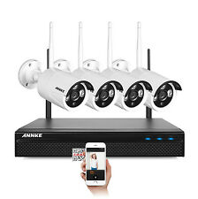 ANNKE 4CH 960P HD NVR Wireless IP Network Security Suveillance Camera System