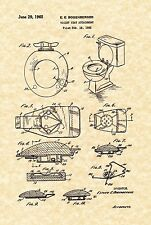 Patent Print - Toilet Seat 1965 - Bathroom Art Print. Ready To Be Framed!