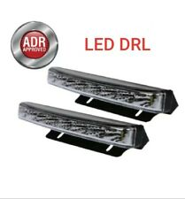 LED DRL Daytime Running Light Rectangular Kit 12v + Wiring Harness & Dim Control