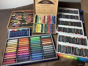 200 vintage Soft Pastels Eberhard Castell Faber Niji grumbacher Art Supplies Lot
