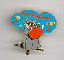Disney Disneyland Pocahontas Raccoon Meeko w/ Thanksgiving Turkey Cast LE Pin