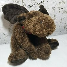 "Moose Plush Marvin 16"" Russ Berrie Heartcraft Dark Brown Stuffed Animal Toy Gift"