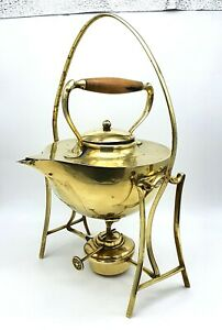 Antique brass William Soutter and Sons Spirit Kettle - Stand and Burner