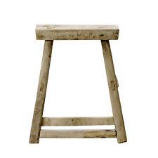 Bloomingville Stuhl FOREST Hocker Unikat aus recycelt Holz 50 cm Holzstuhl