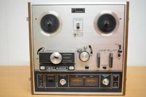 Solide, sehr bekannte Akai X-201D Tonbandmaschine mit Deckel – Leider DEFEKT!!