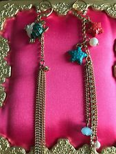 Betsey Johnson Jewels Of The Sea Enameled Starfish Star Fish Mismatch Earrings