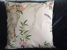 "Designer Guild ROSA Chinensis' Fabric Pillow Cushion Cover  100% cotton 18"" #1"