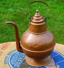 Stunning French antique copper tea kettle kitchen huge