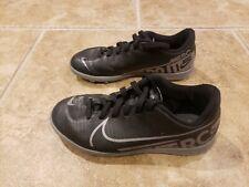 Nike Mercurial Turf Soccer Shoes 1 Youth 1Y Boys Black