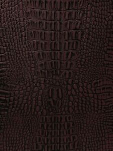 """Crocodile Fake Leather Vinyl Fabric GATOR Embossed Texture 54"""" Wide By The Yard"""