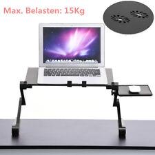 Klappbar Laptoptisch Notebooktisch Betttisch Höhenverstellbar mit Dual-Lüfter DE