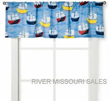 "Nautical Sailing Boats Window Valance, Vivid Colors, Dimensions: 54"" x 15"" - NEW"
