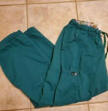 Koi By Kathy Peterson Women's Scrub Cargo Pants Size Large 701R Green. Comfy!